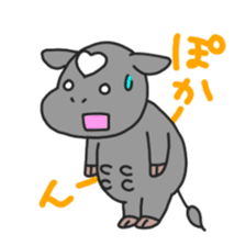 Love cows   Onpu-chan&Friends sticker #413081