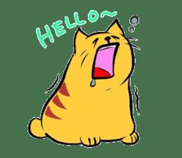 Goofy cat sticker #414729