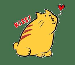 Goofy cat sticker #414743