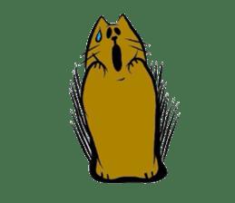 Goofy cat sticker #414752
