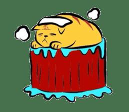 Goofy cat sticker #414756