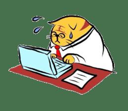 Goofy cat sticker #414757