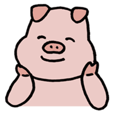 A Happy Pig sticker #414769