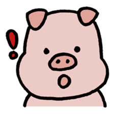 A Happy Pig sticker #414770
