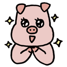 A Happy Pig sticker #414771
