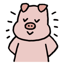 A Happy Pig sticker #414772