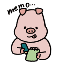 A Happy Pig sticker #414773