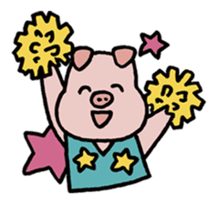 A Happy Pig sticker #414776