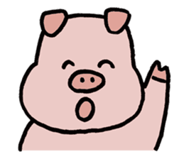 A Happy Pig sticker #414777