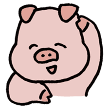 A Happy Pig sticker #414780