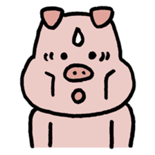 A Happy Pig sticker #414781