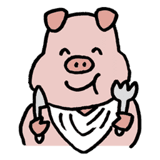 A Happy Pig sticker #414782