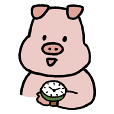 A Happy Pig sticker #414785