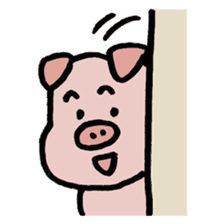 A Happy Pig sticker #414786