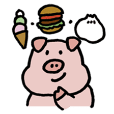A Happy Pig sticker #414787