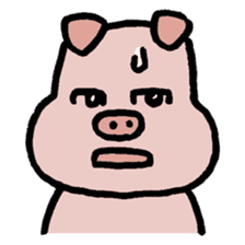 A Happy Pig sticker #414788
