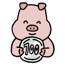 A Happy Pig sticker #414789