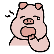 A Happy Pig sticker #414790