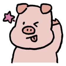 A Happy Pig sticker #414794