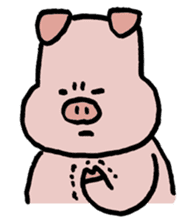 A Happy Pig sticker #414797