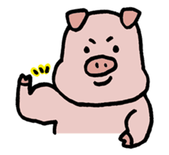A Happy Pig sticker #414800