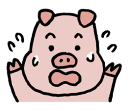 A Happy Pig sticker #414801