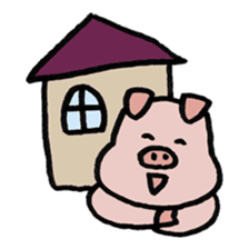 A Happy Pig sticker #414806