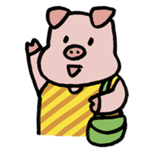 A Happy Pig sticker #414807