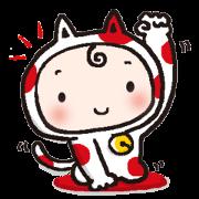 สติ๊กเกอร์ไลน์ maneki miko