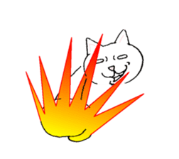 Cats saucy clunky sticker #417022