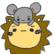 สติ๊กเกอร์ไลน์ Rye(Lion) and Mau(mouse)