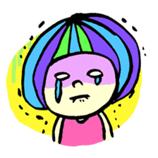 Colorful Girl sticker #417411