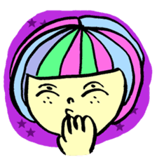 Colorful Girl sticker #417413