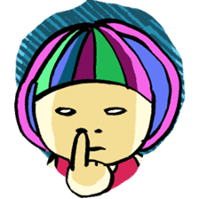 Colorful Girl sticker #417416