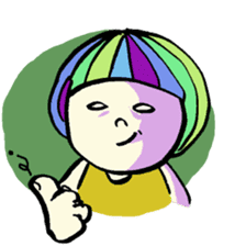Colorful Girl sticker #417417