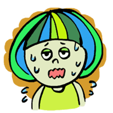Colorful Girl sticker #417421