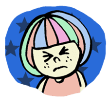 Colorful Girl sticker #417422