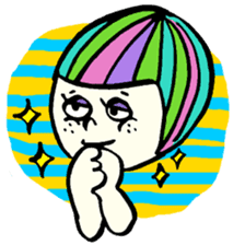 Colorful Girl sticker #417425