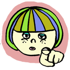 Colorful Girl sticker #417428