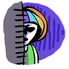 Colorful Girl sticker #417433