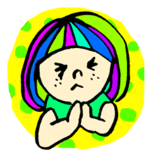 Colorful Girl sticker #417438