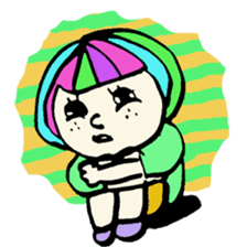 Colorful Girl sticker #417440