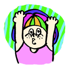 Colorful Girl sticker #417448