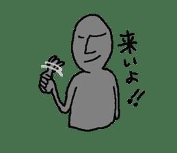 Mr.Moai sticker #418777