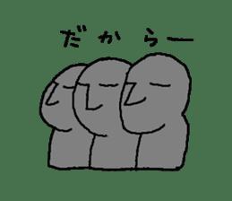 Mr.Moai sticker #418792