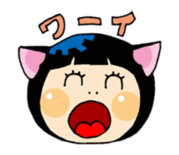 Daily life of the cat ear Tamako sticker #419895