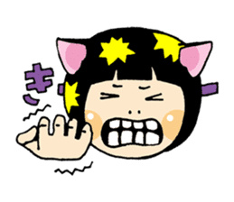 Daily life of the cat ear Tamako sticker #419924