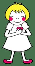 Fluffy heart sticker #420576