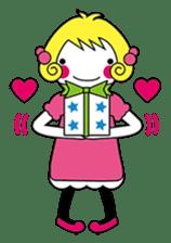 Fluffy heart sticker #420577