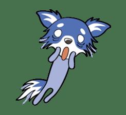 Long coat Chihuahua sticker #421615